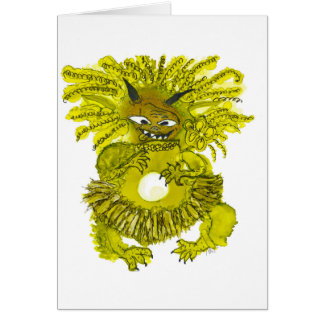 Monster Lily greeting cards. Card