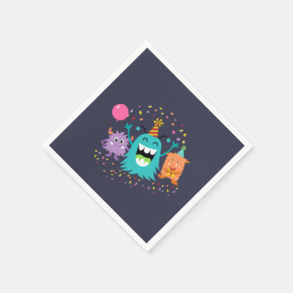 MONSTER MASH BIRTHDAY monster party napkins Disposable Serviettes