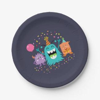 MONSTER MASH BIRTHDAY monster party plates