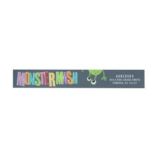 MONSTER MASH BIRTHDAY WRAP AROUND Address Labels Wraparound Return Address Label