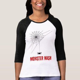 Monster Mash Halloween Spider Web T-Shirt