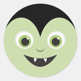 Monster Mash | Vampire Halloween Classic Round Sticker