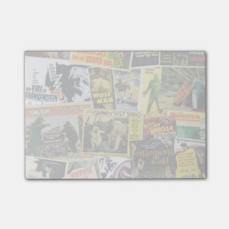 Monster Movie Collage Post-it Notes