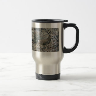 Monster mule deer buck travel mug