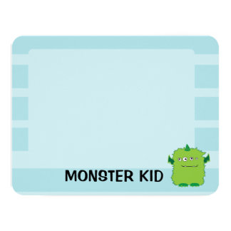 Monster Note Card 11 Cm X 14 Cm Invitation Card