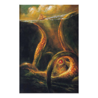 Monster Octopus Poster