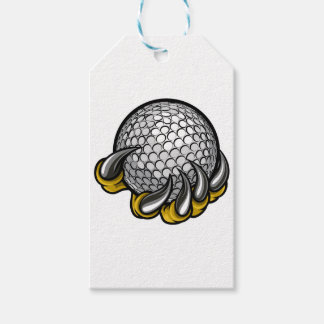 Monster or animal claw holding Golf Ball Gift Tags