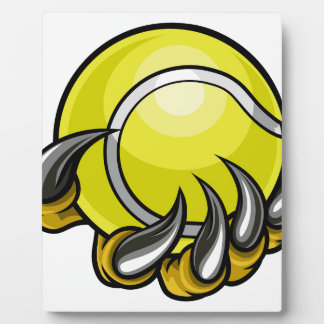 Monster or animal claw holding Tennis Ball Plaque