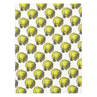 Monster or animal claw holding Tennis Ball Tablecloth
