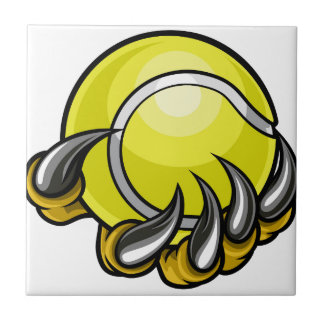 Monster or animal claw holding Tennis Ball Tile