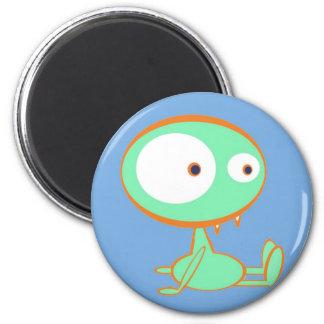 Monster orange/green fridge magnets