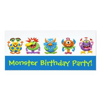 Monster Party 10 Cm X 24 Cm Invitation Card