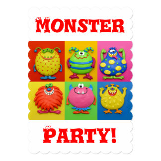 Monster Party 13 Cm X 18 Cm Invitation Card