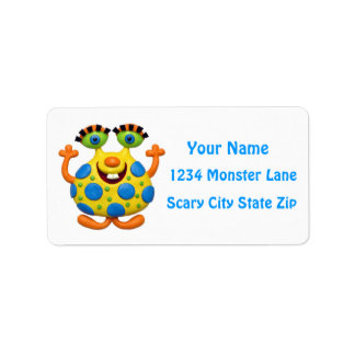 Monster Party Address Label