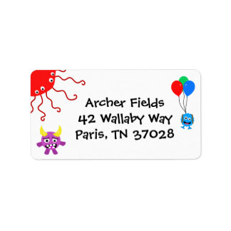 Monster Party Address Labels
