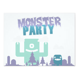 Monster Party Invitation! 17 Cm X 22 Cm Invitation Card