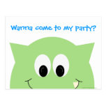 Monster Party Postcard Invitation