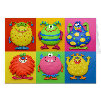 Monster Party Thank You Card