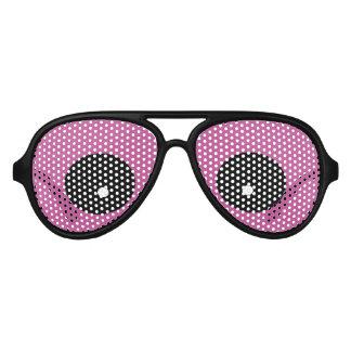 Monster Purple Eyes Party Aviator Sunglasses