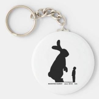Monster Rabbit Basic Round Button Key Ring
