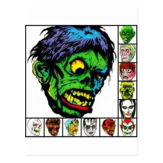 Monster Retro monsters Postcard