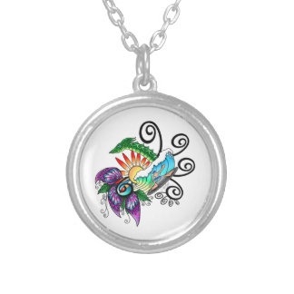 Monster Surf Dreams Silver Plated Necklace