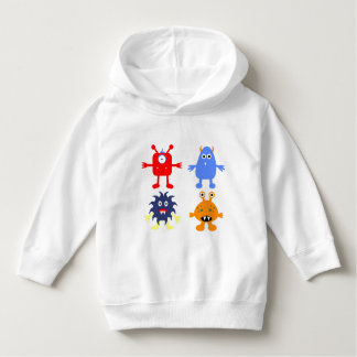 Monster Themed Toddler Pullover Hoodie