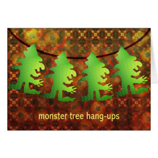 Monster tree hang-ups by Anjo Lafin Card