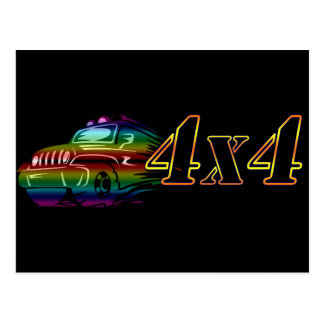 MONSTER TRUCK 4X4 Mud Track Jump Play Destiny Postcard