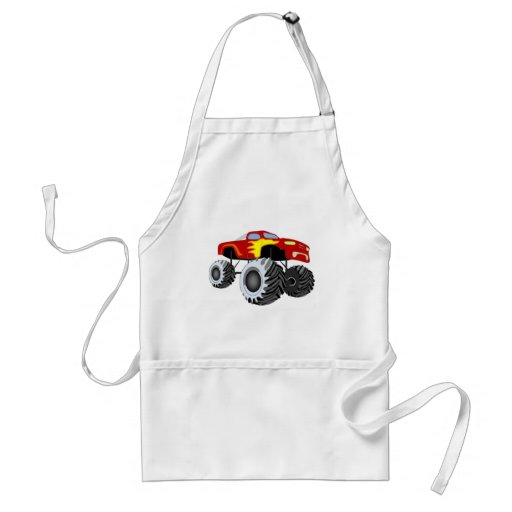 Monster Truck Adult Apron