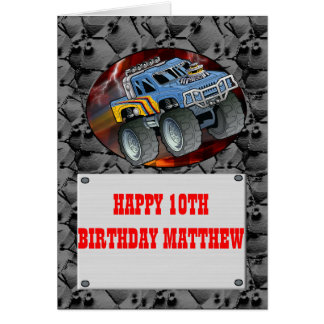 MONSTER TRUCK BIRTHDAY CARD