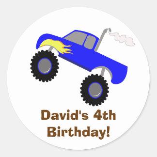 Monster Truck Birthday Personalized Sticker