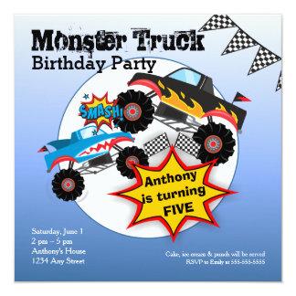 Monster Truck Kids Boys Birthday Party Invitation