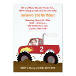 Monster Truck Photo Birthday Invitation (Red) 13 Cm X 18 Cm Invitation Card
