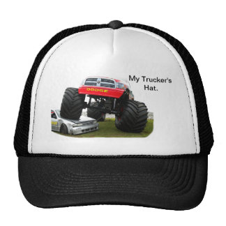 Monster Truck Smashing Car Cap