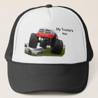 Monster Truck Smashing Car Trucker Hat