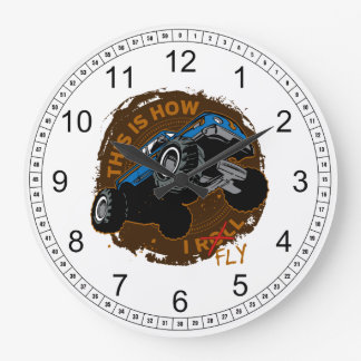 Monster Truck This is How I Fly Wall Clock