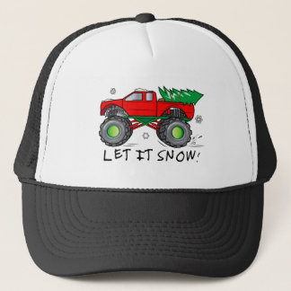Monster Truck With Christmas Tree: Let It Snow! Trucker Hat