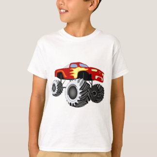 Monster Truck with Flames Tees