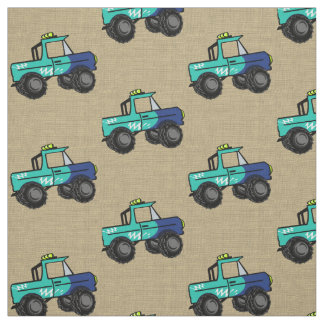 Monster Trucks Fabric