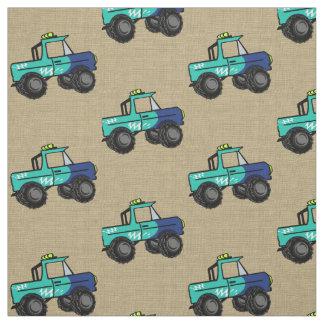 Monster Trucks Fabric