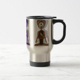 Monster vector stainless steel travel mug