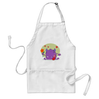 Monster with a flower apron
