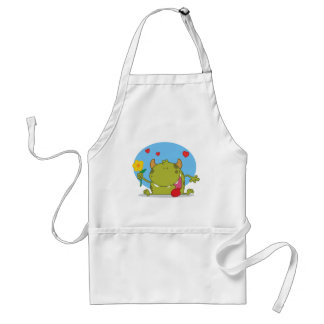 Monster with flower aprons