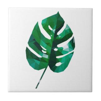 Monstera Leaf Design Tile