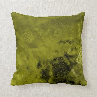 Monstera Leaf Tropical Greenly Cali Mint Glass Cushion