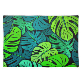 Monstera Leaves #14 Placemat