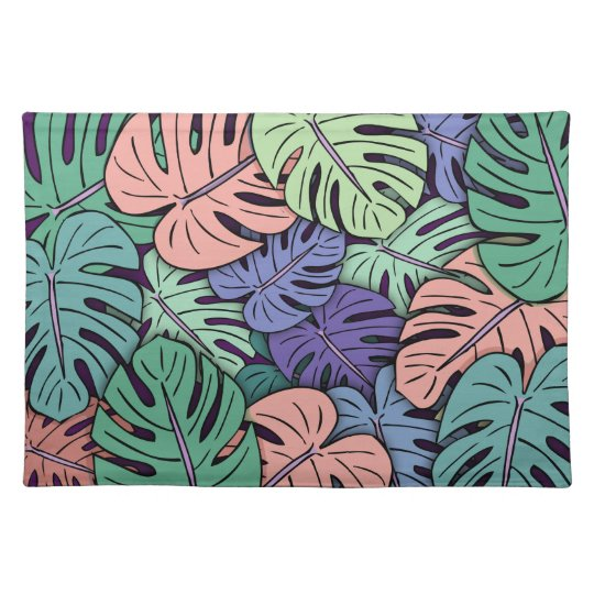 Monstera Leaves #8 Placemat