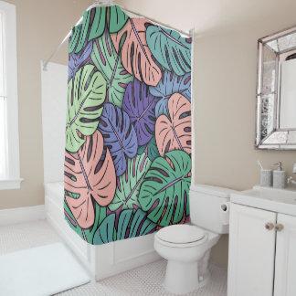 Monstera Leaves #8 Shower Curtain