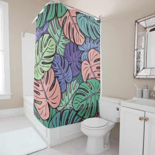 Monstera Leaves #8 Shower Curtain